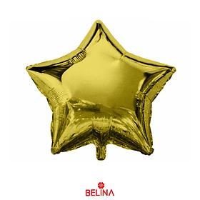 Globo Estrella Oro 18 Pulgadas