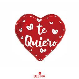 Globo Metálico Corazón Rojo Te Quiero 45cm