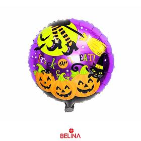 Globo Metálico Calabazas De Halloween 45cm