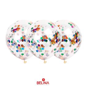Globo Confeti Estrella Colores