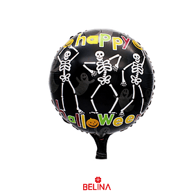 Globo Metálico Esqueleto De Halloween 45cm