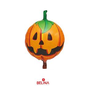 Globo Metálico Calabaza De Halloween 45cm