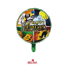 Globo Metálico Murciélago De Halloween 45cm