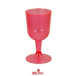 Copas Plasticas 6pcs 6.5x11.2x6.5cm Rojo
