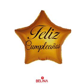 Globo Metálico Estrella Feliz Cumpleaños 45cm