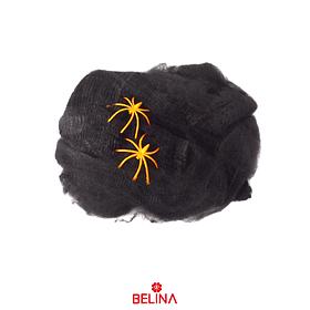 Telaraña De Halloween Color Negro 20g