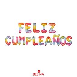Set de globos feliz cumpleaños multicolor 16 pulgadas