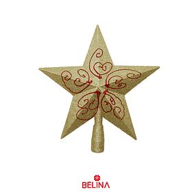 Estrella De Navidad Con Purpurina 25cm Color Aleatorio