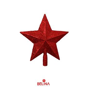 Estrella De Navidad Con Purpurina 30cm