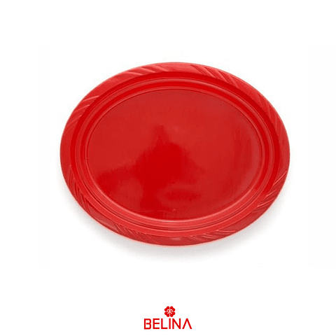 Bandeja Plastica Ovalada Rojo