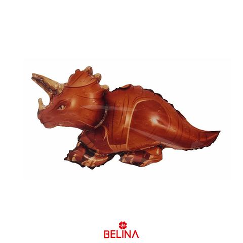 Globo Metalico Dinosaurio Triceratops 42x37cm