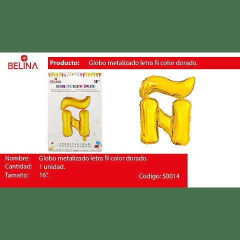 Globo letra Ñ oro 16 pulgadas