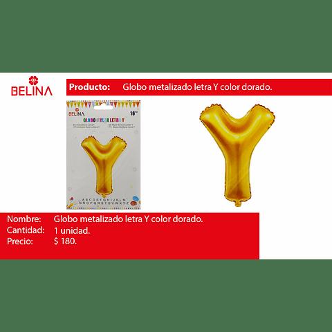 Globo letra Y oro 16 pulgadas