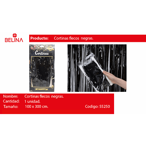 Cortina Negra 100cmx300cm