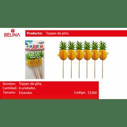 TOPPER PARA TORTA PIÑAS 6PCS