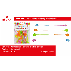 Brochetas de corazon 24pcs
