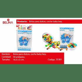 Bolsa de dulces baby shower niño 10pcs