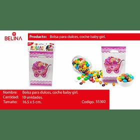 Bolsa de dulces baby shower niña 10pcs