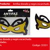 Antifaz Negro/Oro 3pcs