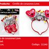Cintilo led corazones love 1pcs 19x11cm