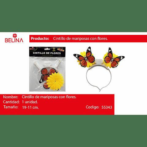 Cintillo led flores 19x11cm 1pcs