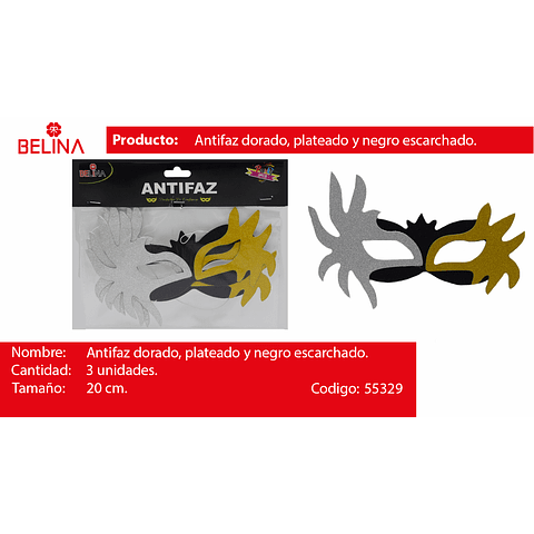 ANTIFAZ ORO/PLATA/NEGRO 3PCS
