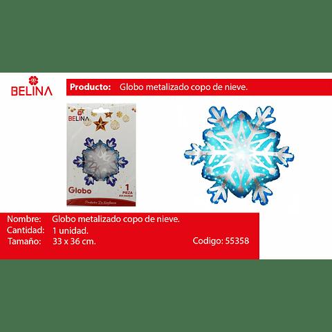 Globo copo de nieve 33*36cm
