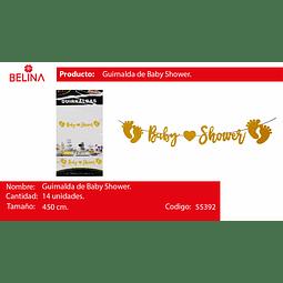GURNALDA BABY SHOWER DORADO 450CM 14PCS