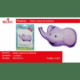 Globo metalico elefante 98*65cm
