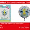 Globo Redondo 1st Birthday Celeste 22 Pulgadas