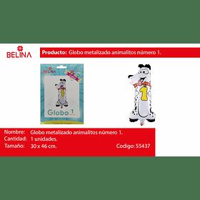 Globo numero 1 perro 21*44cm