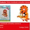 Globo Numero 8 Gato 35x48.5cm