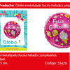 Globo Metalico Feliz Cumpleaños Dulces 45cm
