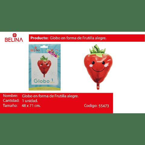 Globo metalico frutilla 48*71cm