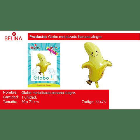 Globo metalico banana 50*71cm