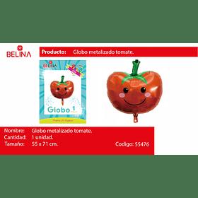 Globo metalico tomate 55*71cm