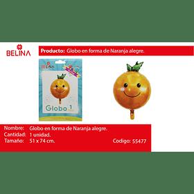 Globo metalico naranja 51*74cm