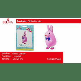 Globo metalico conejo 61*29cm