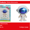 Globo Metalico Astronauta 65x86cm