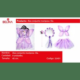 Disfraz de mariposa rosa/lila 30cm 3pcs