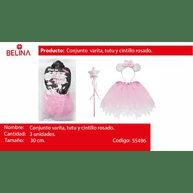 Dizfras de hada rosa cintillo con orejas 30cm 3pcs