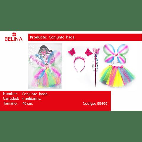 Disfraz de mariposa multicolor 30cm 3pcs