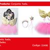 Disfraz De Hada Rosa/Dorado 30cm 3pcs