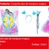 Disfraz de mariposa arcoiris / tutu con brillo 30cm 3pcs