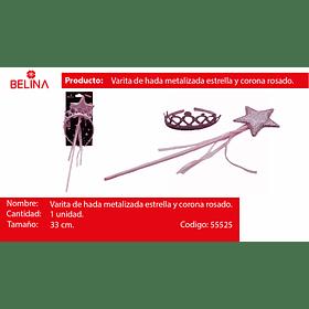 Set de corona con varita 2pcs 33cm