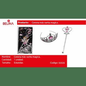 SET DE PRINCESA VARITA/CORONA 2PCS 35*17CM