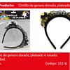 Cintillo Con Lentejuelas/Encaje Rosa/Negro 17cm 1pcs