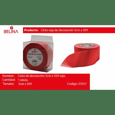 Cinta de regalo rojo 5cm*50y