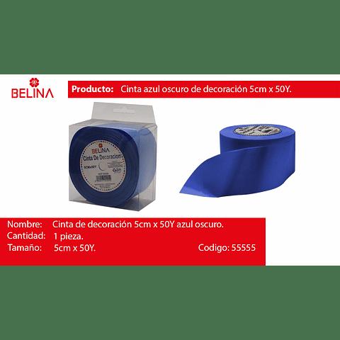 Cinta de regalo azul 5cmx50y