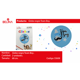 Globo burbuja team boy 2pcs